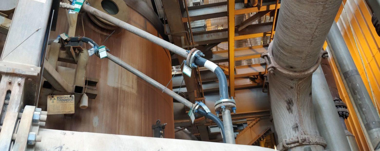 Leached slurry transportation pipeline